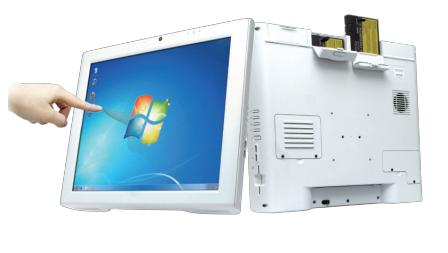 DT590IC In Use Integrate LCD Thin Client